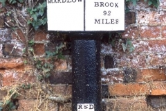 1 Milepost 0/92 at Shardlow