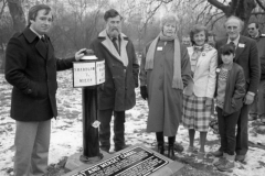 10 Unveiling new Milepost -1.5/93.5 at Derwent Mouth 20-1-1985
