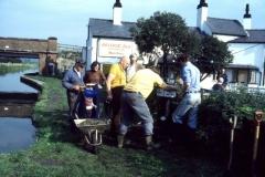 5 Adjusting Milepost 18/74 on Branston Work Party 8-10-1978