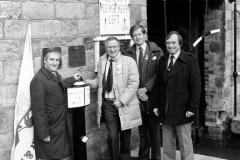 9 Unveiling Milepost at Harecastle